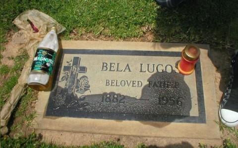 At Bela Lugosi's Grave